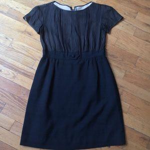 Vintage High-Waisted Doo Wop Silk Black Dress